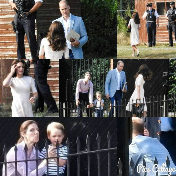 Prince George accompanied by his nanny came to the gate to wave off William and…