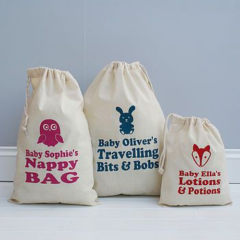 Personalised Animal Baby Storage Bag