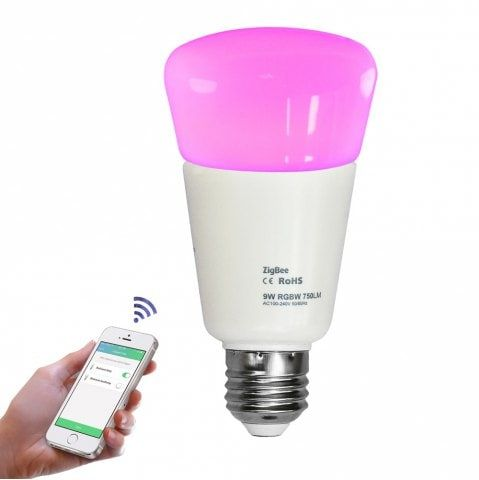 Jiawen E27 9w Smart Rgb Bulb Wireless App Control Working With Zigbee Hub Ac 100 240v Zigbee App Control Led Shop Lights