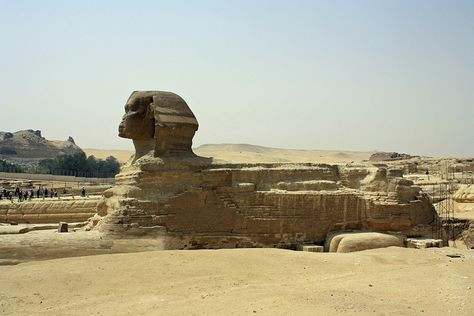 A full shot of the great Sphinx, Giza, Egypt