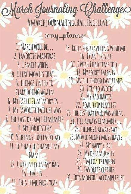 Christy Blossom: March Challenges @my_planner journal challenge