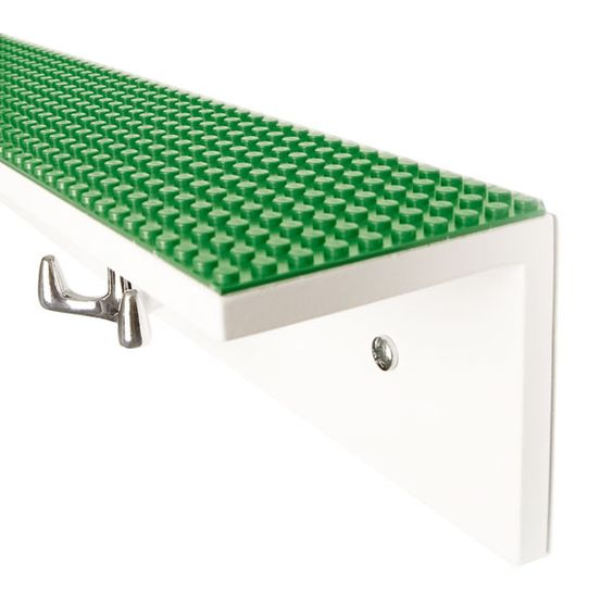 make a Lego Shelf!  Great idea for displaying creations!