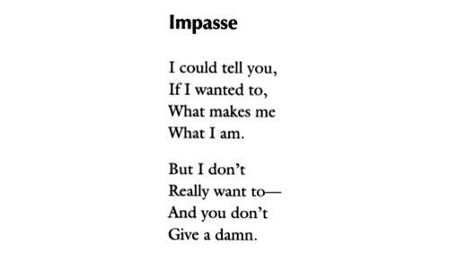 Langston Hughes - Impasse
