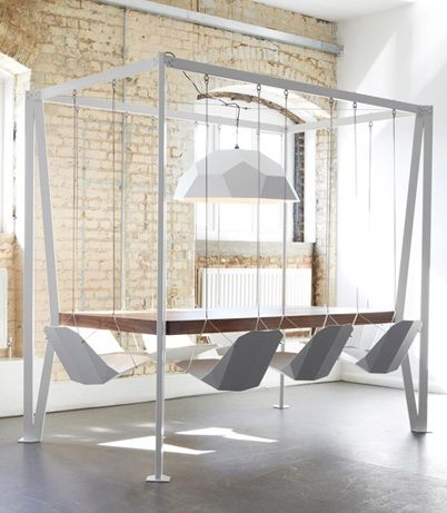 Suspended Table and Chairs
