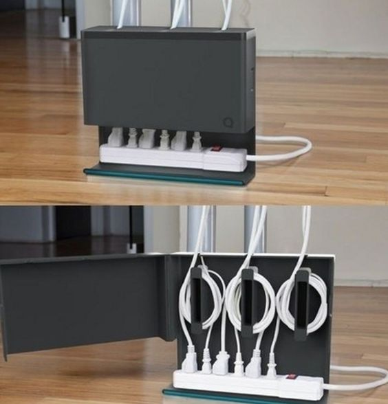 What a beautiful way to hide electrical cords.