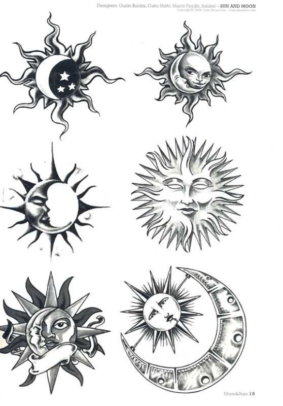 Sun And Moon Designs Tattoo Brainstorming 11