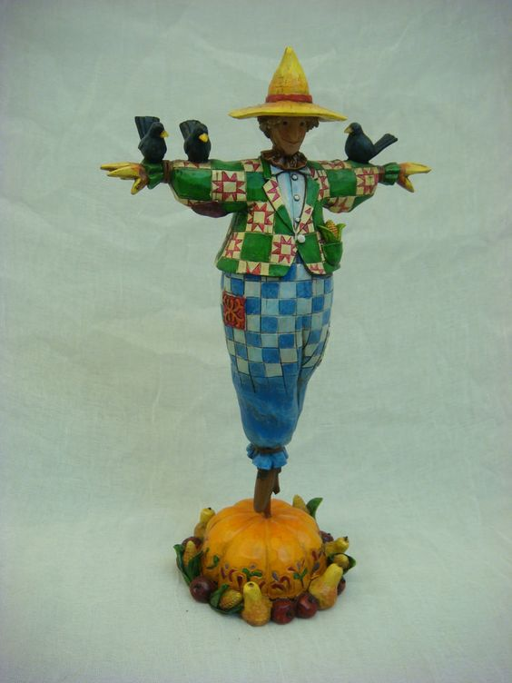 JIM SHORE KEEPING WATCH 4002856 SCARECROW BIRDS HALLOWEEN HEARTWOOD CREEK