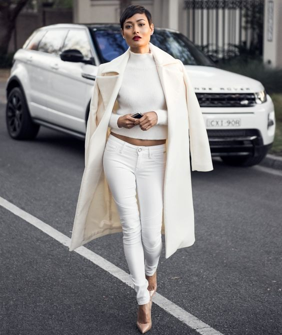 3 Keys to Wearing Winter White: #2. Keep your monochromatic look polished and classy.
