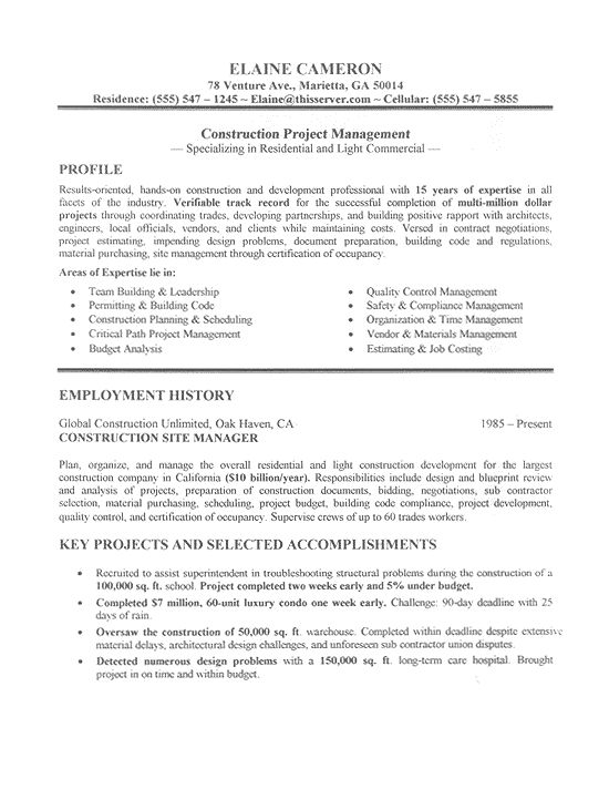 Construction Laborer Resume3 Resume - Workplace tips Pinterest - quality control resume samples