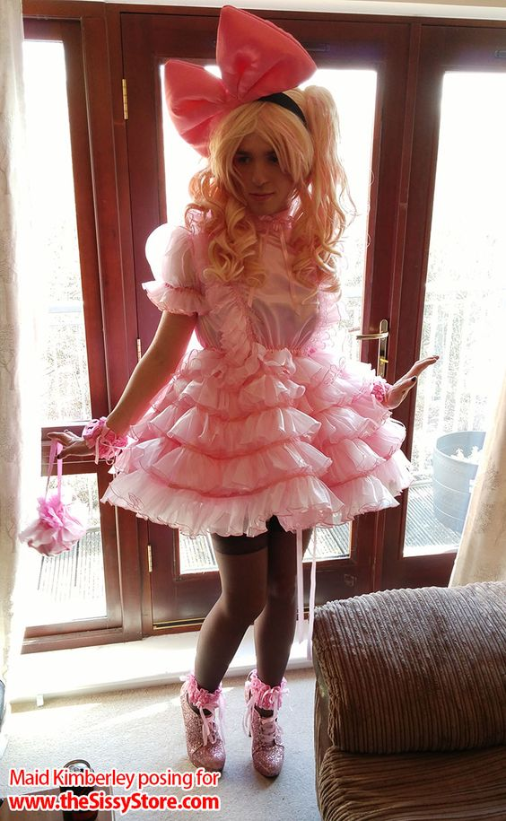 Sissy Maid Kimberley Frilly And Satin Lingerie