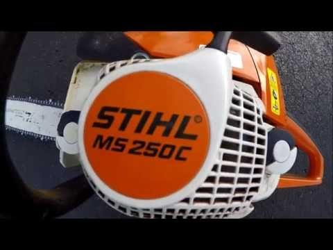 How To Start Your Stihl Ms 250c Easy2start Chainsaw Youtube Stihl Chainsaw Engine Repair