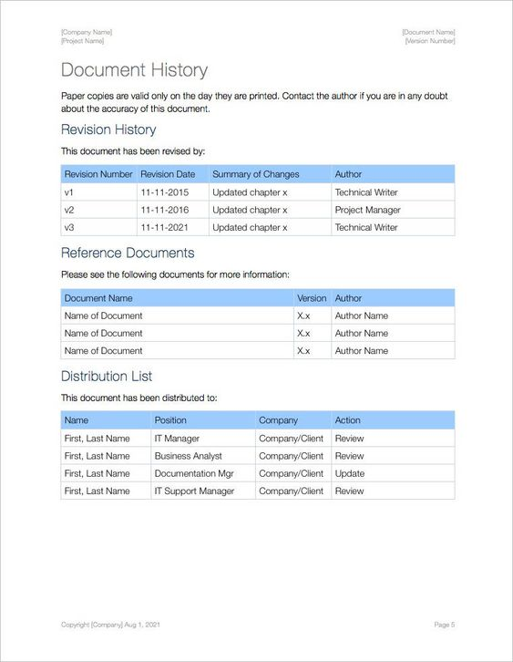 SOP-Template-Apple-iWork-Pages-Document-History SOP Pinterest - sop templates