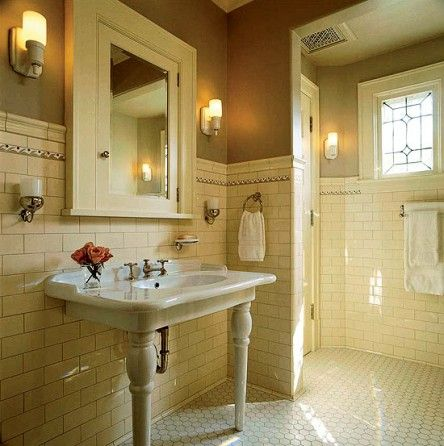 Artful tile for kitchen bath belle house and 1920s for 1890 bathroom design