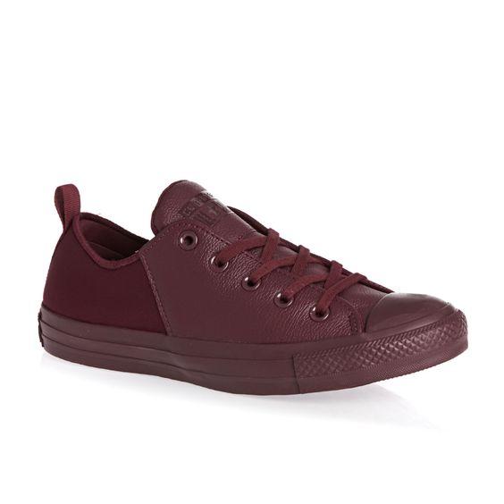 Converse All Star Lo Shoes - Deep Bordeaux