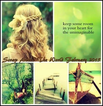Luciana W: Page Instantes - FEB Challenge Scrap Around the Wo...