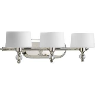 Check out the Progress Lighting P2927-104WB Fortune 3 Light Bath Fixture in Polished Nickel with Krypton Bulb