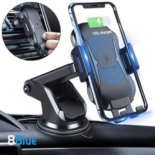 Galaxy Note 9// S9// S9 10w Automatic Infrared Qi Fast Charging Car Phone Holder Dashboard Compatible with iPhone Xs//Xs Max//XR//X Wireless Car Charger Mount /& Other Qi Enabled 4.0-6.5 in
