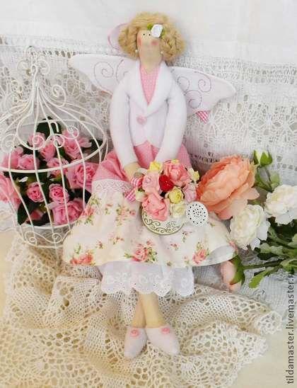 Куклы Тильды ручной работы. Ярмарка Мастеров - ручная работа Абигейл - фея розового сада. Handmade.