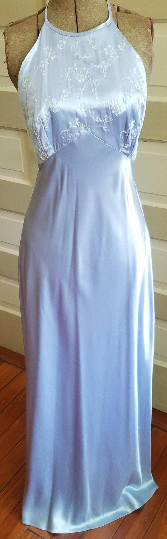 1990s Prom Dress Vintage Halter Periwinkle Zum Zum Etsy Prom Dresses Vintage 1990s Prom Dress Dresses [ 1748 x 543 Pixel ]