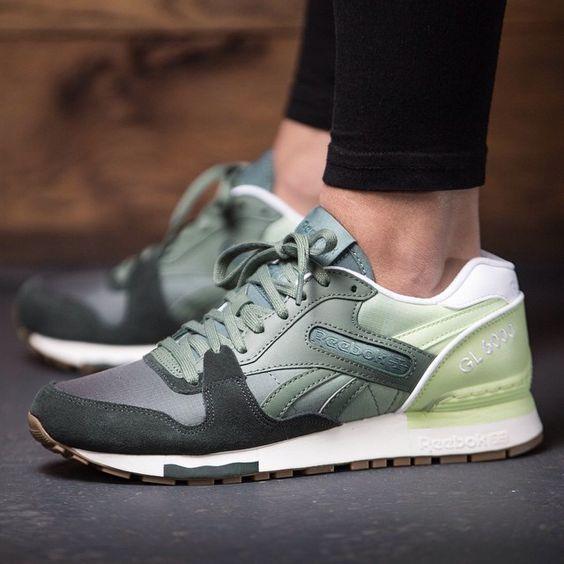 Reebok GL 6000 Color Fade (green) - 43einhalb Sneaker Store Fulda