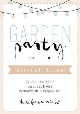 Garden Party Einladung Sommerfest Einladungen Gartenparty
