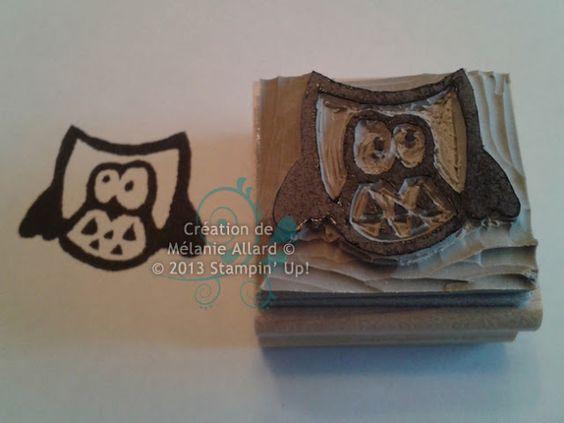 Owl carved by Melanie Allard