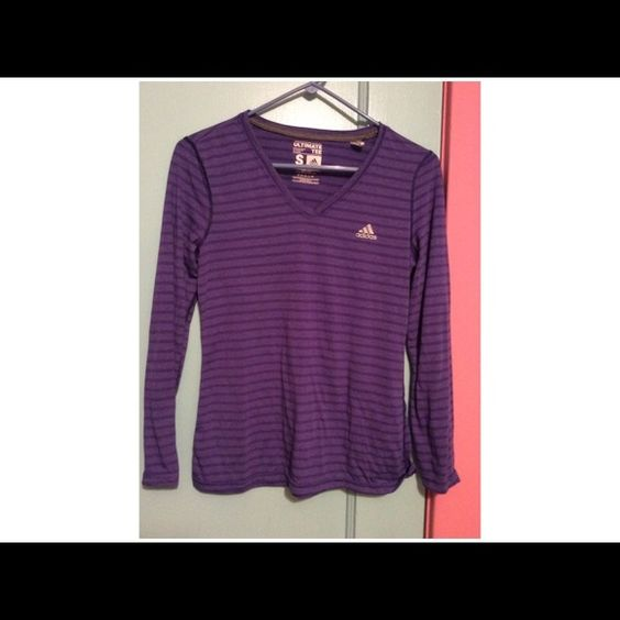 NWOT Purple Adidas ultimate tee Bought it but never wore it Adidas Tops Tees - Long Sleeve