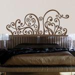 Vinilos decorativos de cabezal de estilo moderno para la decoración de paredes donde tienes la cama. Este vinilo simula el cabecero en la pared y queda muy original.