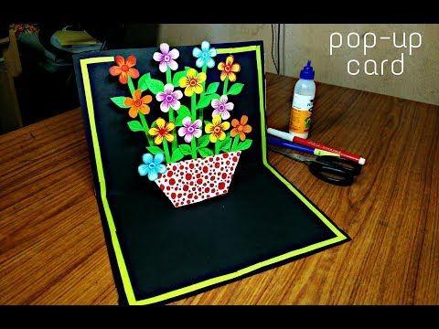 Diy Flower Bouquet Pop Up Card Paper Crafts Handmade Craft Mother S Day Card Youtube Diy Pop Up Cards Paper Crafts Cards Birthday Cards Diy
