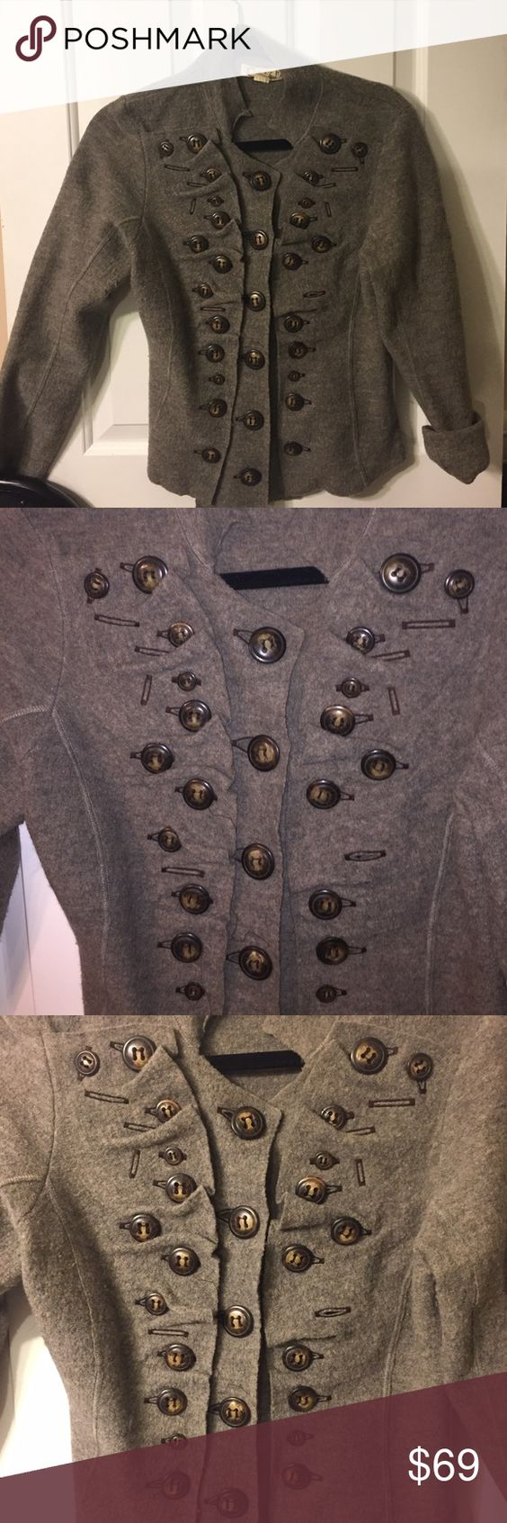 Anthropologie crazy button up sweater!! So cool | D, Sweater ...
