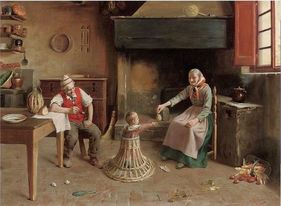 Giovanni Sandrucci (1828 – 1897, Italian). The Treat