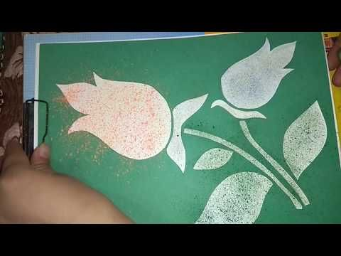 Spray Painting With Toothbrush Creative Art From Toothbrush Tutorial Step By Step Youtube Creative Art Spray Painting Art