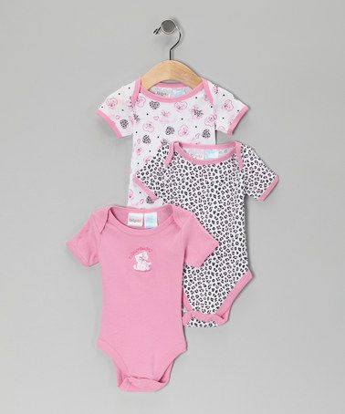 Take a look at this Pink Cat Bodysuit Set - Infant by Kidgets on #zulily today!