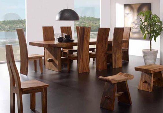Mesas de comedor de madera suwar decoraci n beltr n tu for Comedores de madera