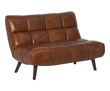 2-Sitzer-Leder-Sofa Ian, B 120 cm