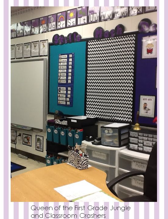 Classroom Decor Chevron : Chevron bulletin boards and classroom on pinterest