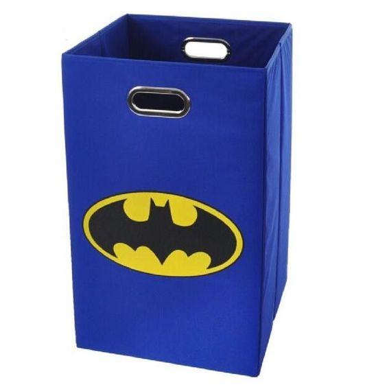 Batman Logo Folding Laundry Basket