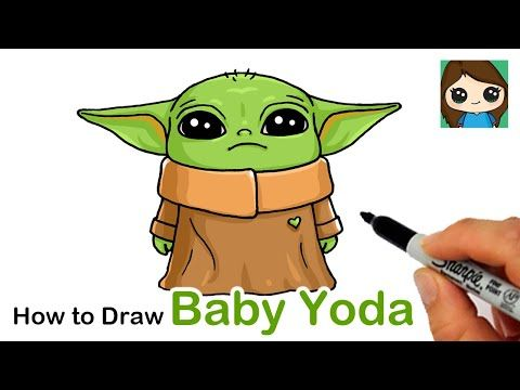 How To Draw Yoda Baby Youtube With Images Yoda Drawing Baby