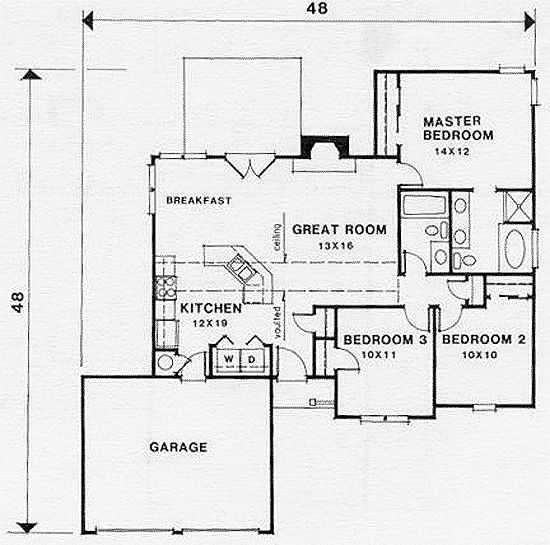 Small retirement house plan 45801 at for Small retirement house plans