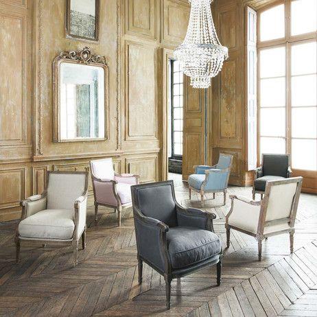 fauteuil en lin casanova maisons du monde 299e chambre parents etretat pinterest. Black Bedroom Furniture Sets. Home Design Ideas