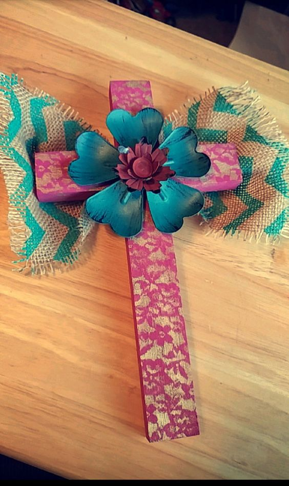 Wall cross by Couifure on Etsy