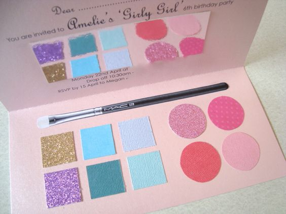 Make up party invitations. Mariah J we are making these when one of us has a little girl!!