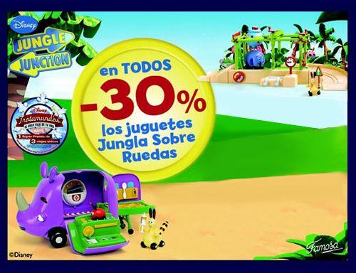 Ahora... o nunca, consigue el 30% de descuento en todos los juguetes Jungla sobre ruedas. Exclusivamente del 01/11/13 al 24/12/13. Descárgate el cupón descuento en: www.famosa.es/junglasobreruedas