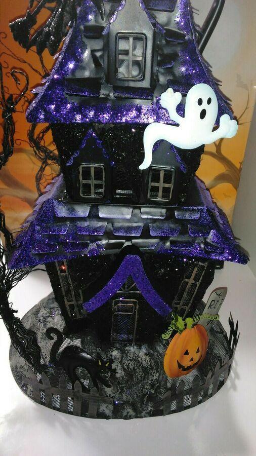 Halloween Haunted House Tea Light Up Costco Tabletop Decor
