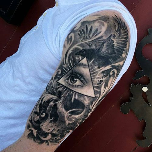 Freehand Half Sleeve For Men Cool Half Sleeve Tattoos Tattoo Sleeve Designs Half Sleeve Tattoos For Guys