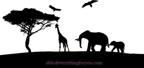 Elephant Giraffe Jungle Safari Animals Silhouette Clipart Png Printable Art Prints Digital Download Elephant Silhouette Animal Silhouette Printable Art Prints Graphics are made in high quality 300 dpi and come in jpg, png & eps format. elephant giraffe jungle safari animals