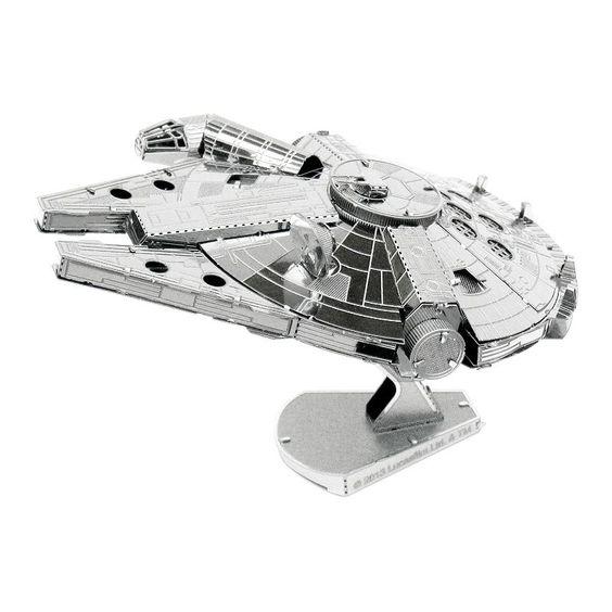 Star Wars Millennium Falcon Metal Earth 3D Laser Cut Model by Fascinations, Multicolor