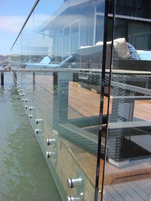 Standoff Glass Railing Demax Arch Glass Railing Building A Deck Glass Railing Deck