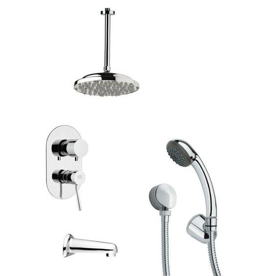 Tyga Pressure Balance Tub and Shower Faucet