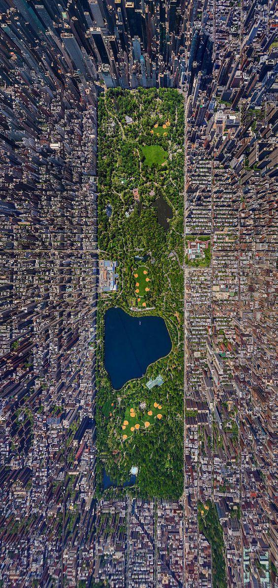 1-Central Park, Nova York 2- Barcelona 3- Cidade do México 4-Labirinto Longleat, Inglaterra 5- Veneza 6- Amsterdã 7-Cataratas do Niágara, Canadá 8- Chicago 9- Berna, Suíça 10- Manguezais emNova...: